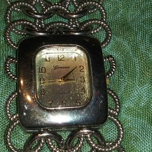 Vintage Geneva silver stainless steel watch